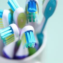 close up shot of toothbrush
